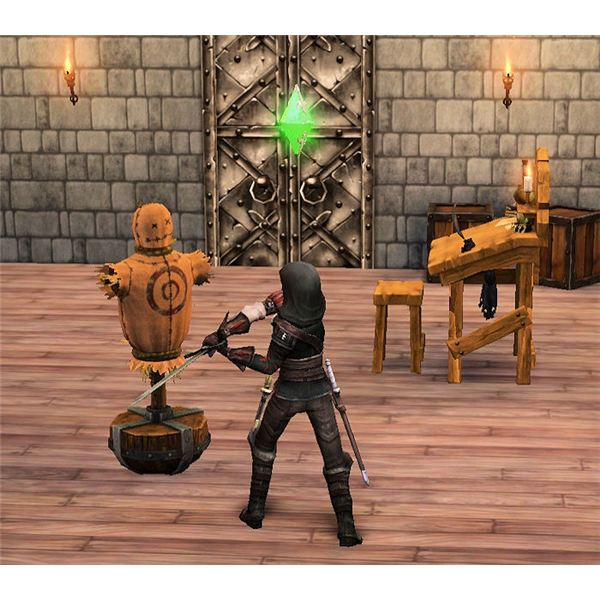 The Sims Medieval Spy Training with Dummy