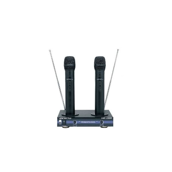 Hisonic VHF Dual Rechargeable Wireless Microphone System