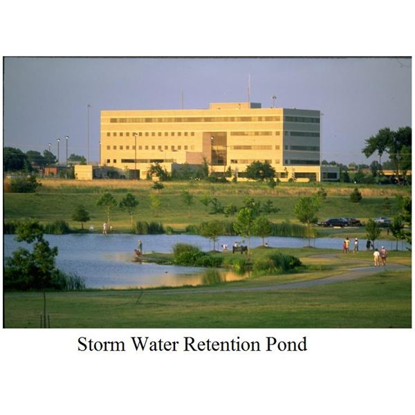 Stormwater detention system retention pond to reduce for Design of stormwater detention ponds