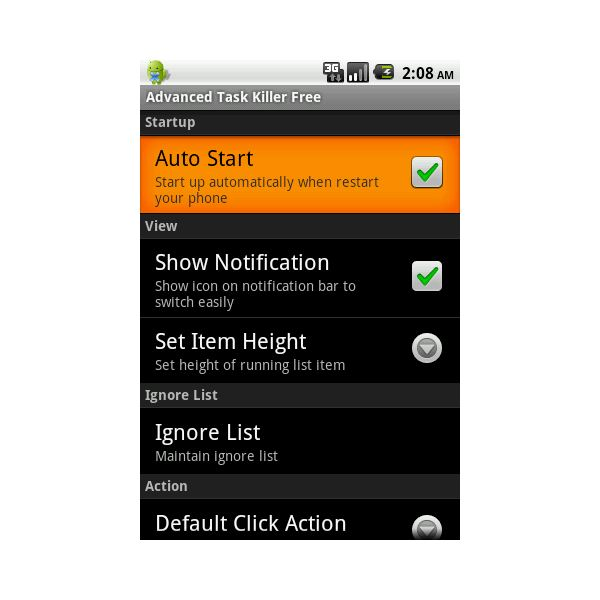 Advanced Task Killer - Best apps for HTC Wildfire