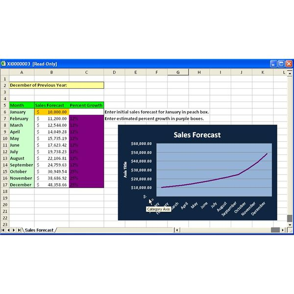 sale forecast template - how to forecast initial sales for new business owners
