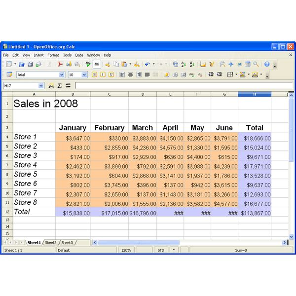 Openoffice calc sum by category