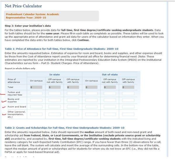 Net Price Calculator Template