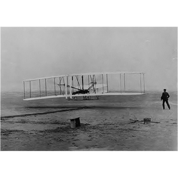 The Wright Brother's Flyer - the first heavier than air flying machine