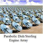 parabolic dish stirling engine array