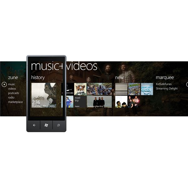 Zune music and video in Windows Phone 7