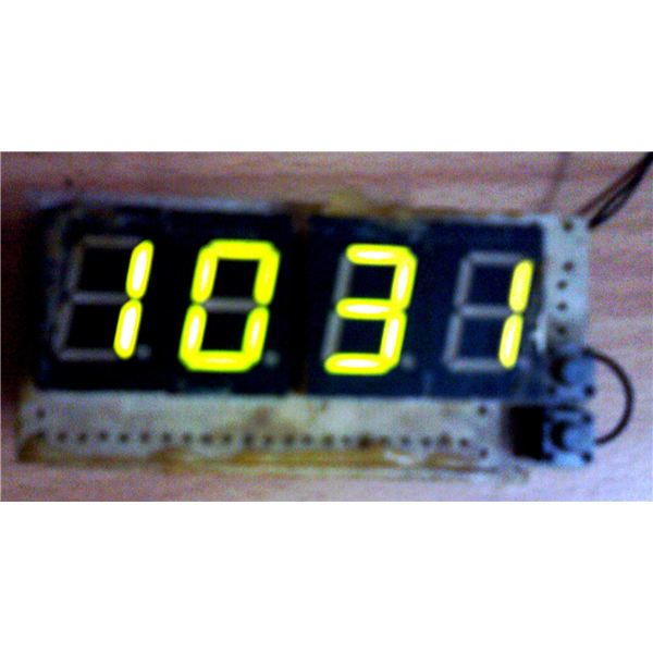Digital Clock, Switched ON