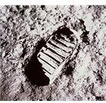 First Footprint on moon - NASA GOV
