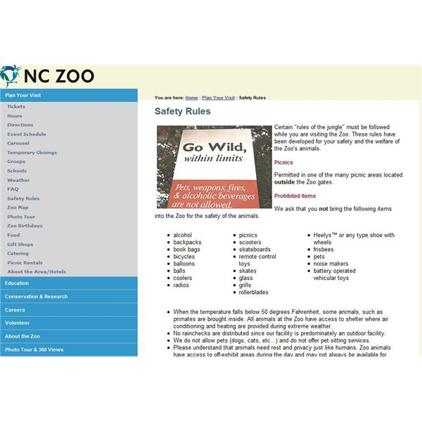 nc zoo safety