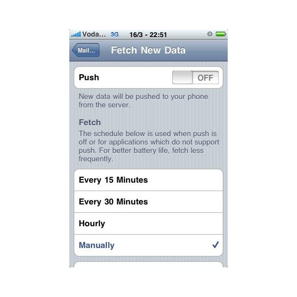 Push and Fetch Settings