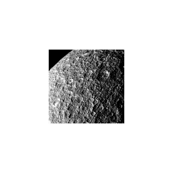 Rhea Is Mainly Composed Of Water-Ice - Image Courtesy NASA-JPL