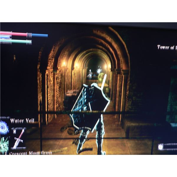 The corridor you need to take after looting the area in the Demon's Souls: Tower of Latria level.