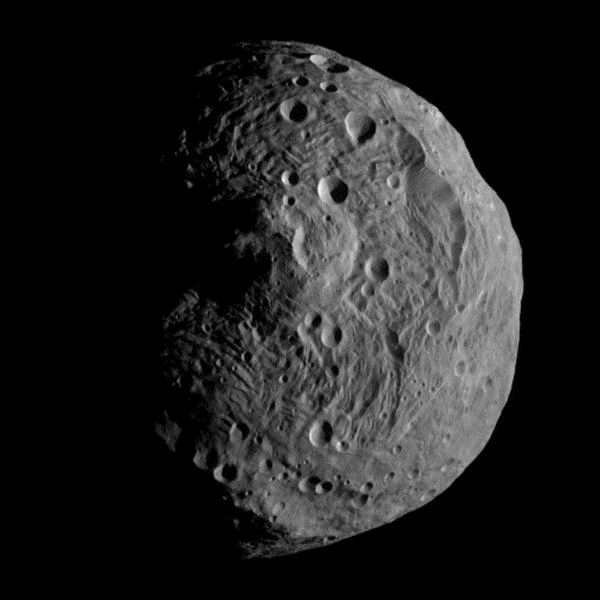 Full View of Asteroid Vesta Captured from Dawn