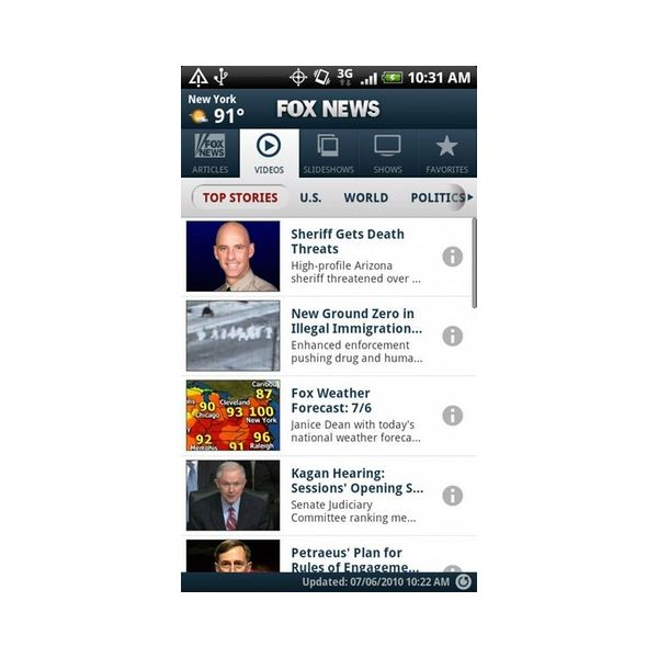Fox News Android App Review