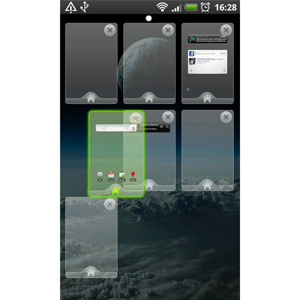 Go Launcher EX adding and changing home screens