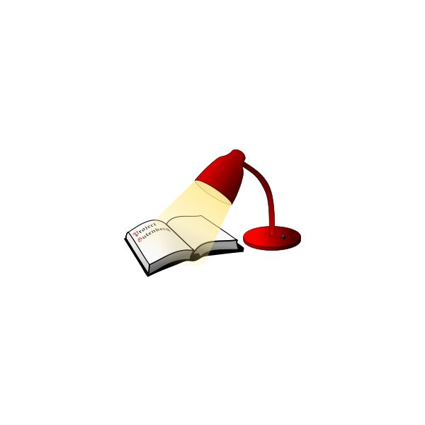 Book and light clip art