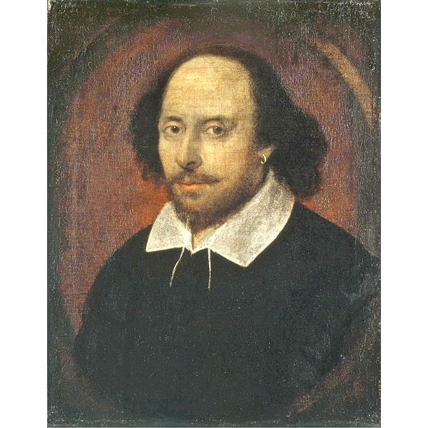 Portrait of Shakespeare in the Public Domain via Wikimedia