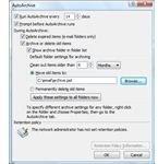 Figure1 - Outlook 2007 AutoArchive Settings