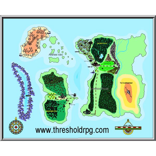 Map of the Threshold RPG World