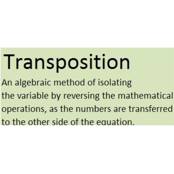 Definition of Transposition