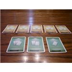 The row cards of Coloretto. The green ones are used for the two player game.