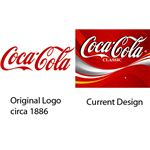 Coca-Cola logos side-by-side.