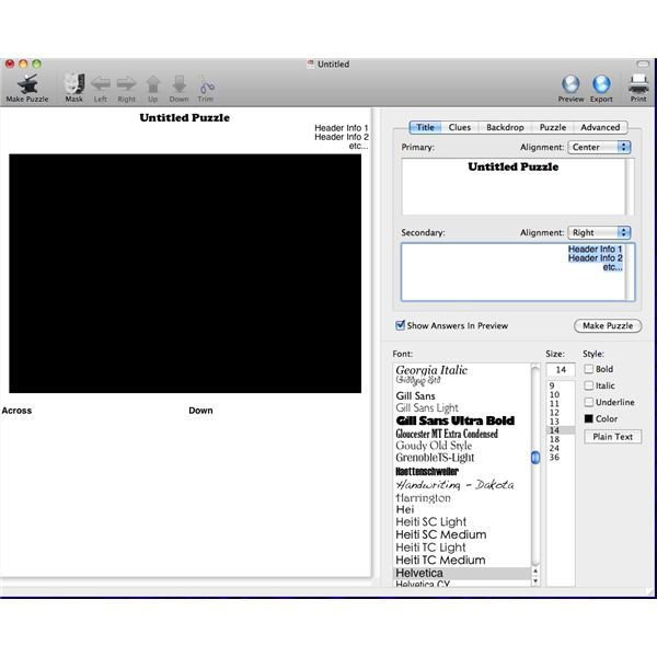 Crossword Forge: Crossword Creation Software for Mac OS X