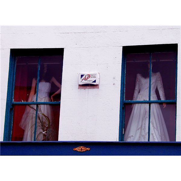 Is that your wedding dress in the window?