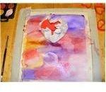 Make large heart imprints