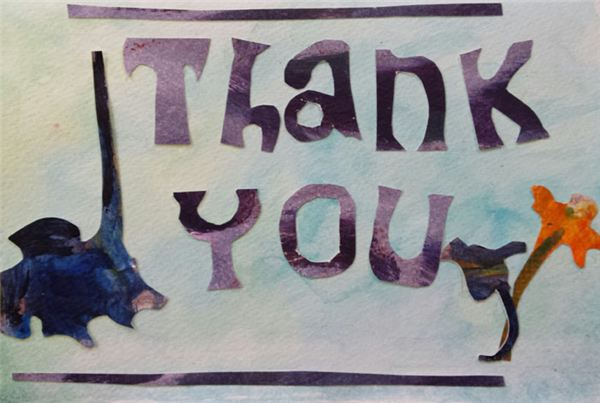 Creating Thank You Cards Using Past Projects: Middle School Art Lesson