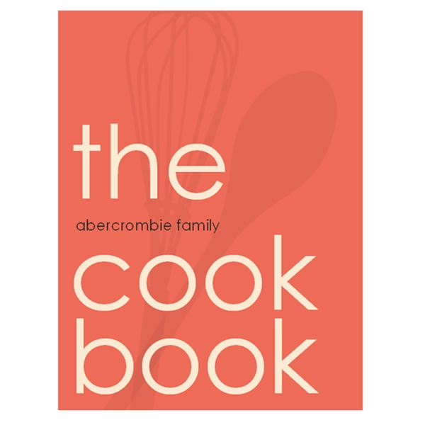 Recipe book template from Microsoft Publisher