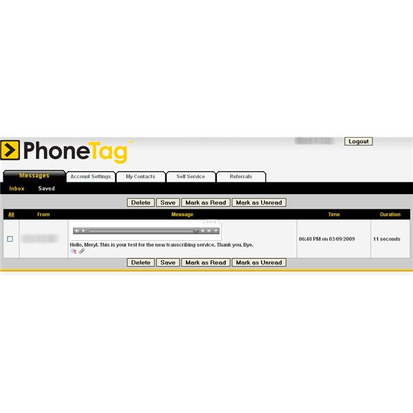 PhoneTag Home Page