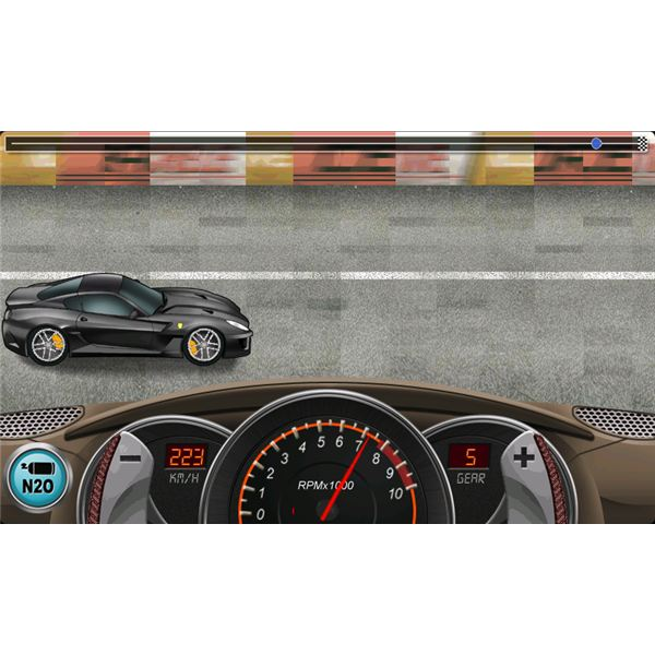 Drag Racing In Game Screenshot
