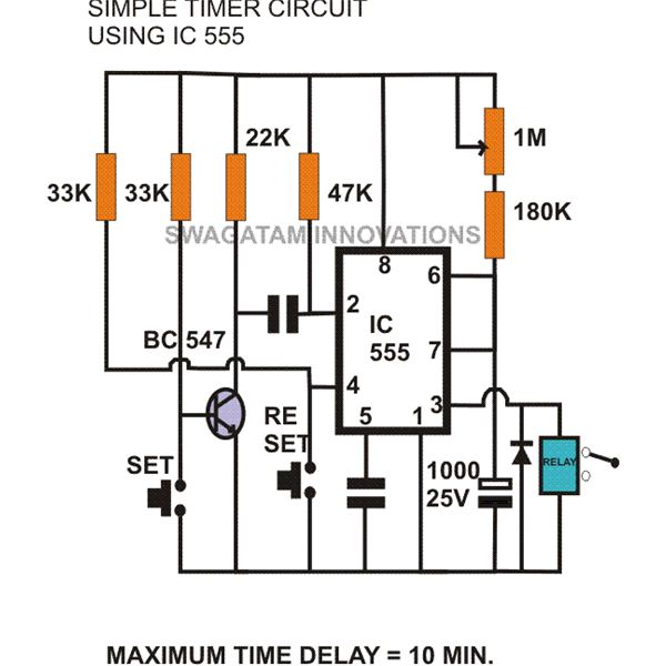 555 ic circuit diagram