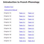 Intro to French Phonology Screen Shot
