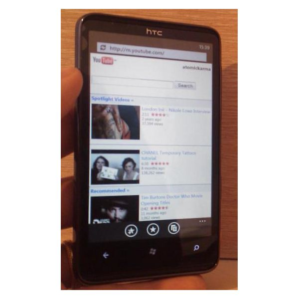 wp7-tv 6Using Apps by HTC: Windows Phone 7's native YouTube app is below-par