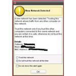 McAfee alerts you that an available network has been detected