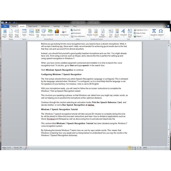 voice recognition application for windows 7