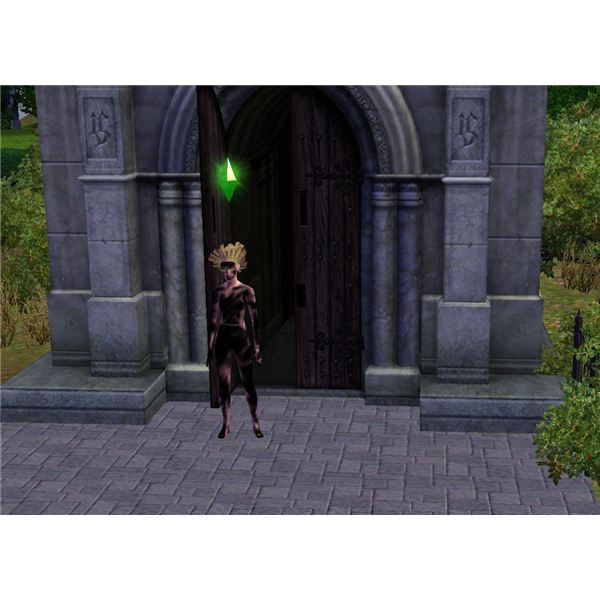 The Sims 3 Mausoleum Sim Attacked