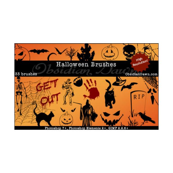 Halloween Vectors Brushes by redheadstock