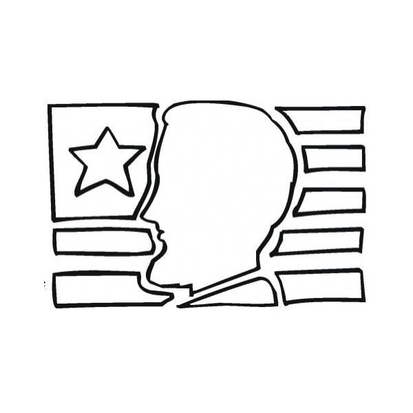 abe-lincoln-coloring-sheets-silhoutte-flag