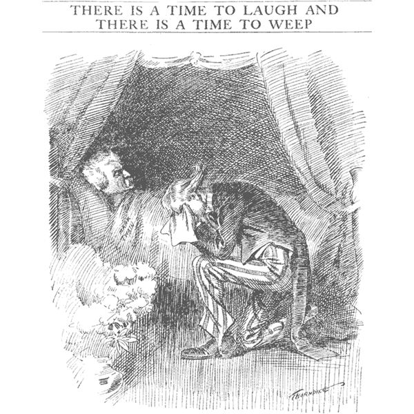 An Editorial Cartoon of Twain's Death, 1910