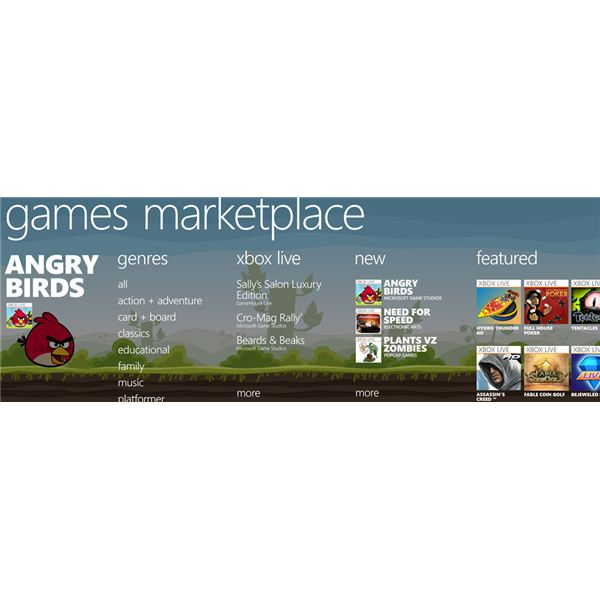 The Windows Phone Marketplace Hub