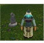 Gravestone left by dead enemy