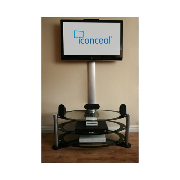 use the iConceal adjustable trunking to cover your TV cables
