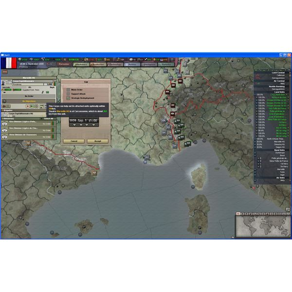 Cheap, Fast, Strategic Redeployment behind the Lines in HoI III