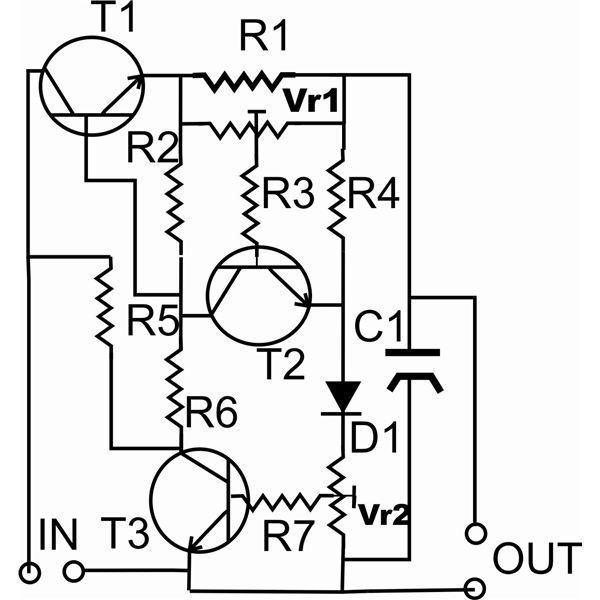 led resistor capacitor circuit