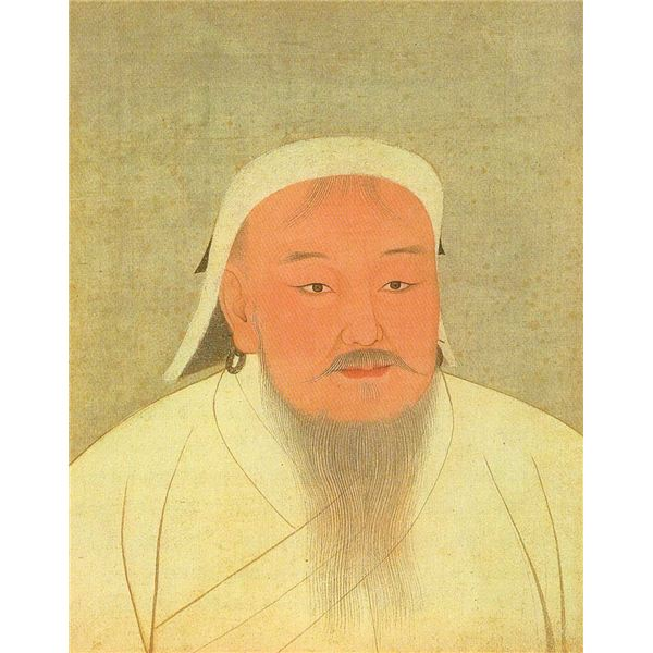 YuanEmperorAlbumGenghisPortrait - image in the public domain