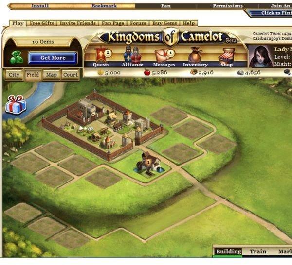 Kingdoms of Camelot Screenshot