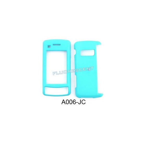 Rubberized Light Blue Snap-on Faceplate Case Cover For LG Env Touch VX11000
